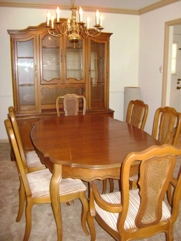 Basset French Provincial Dining Room, White French Provincial Dining Room Set
