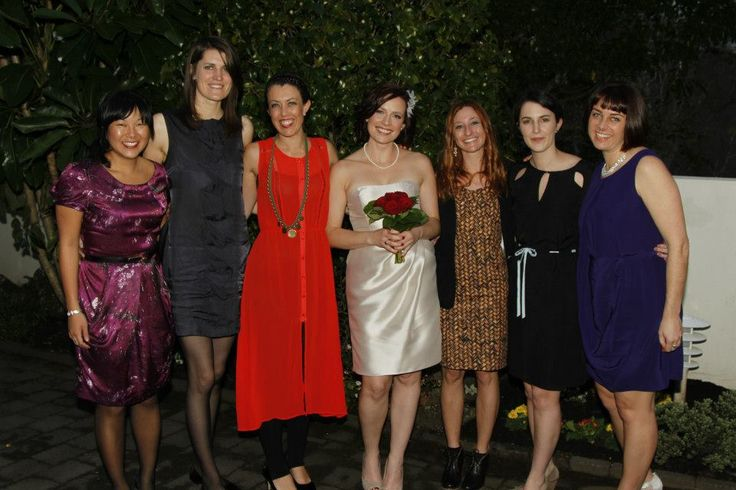 Everyone looking gorgeous at Hap and Mandy's NZ wedding