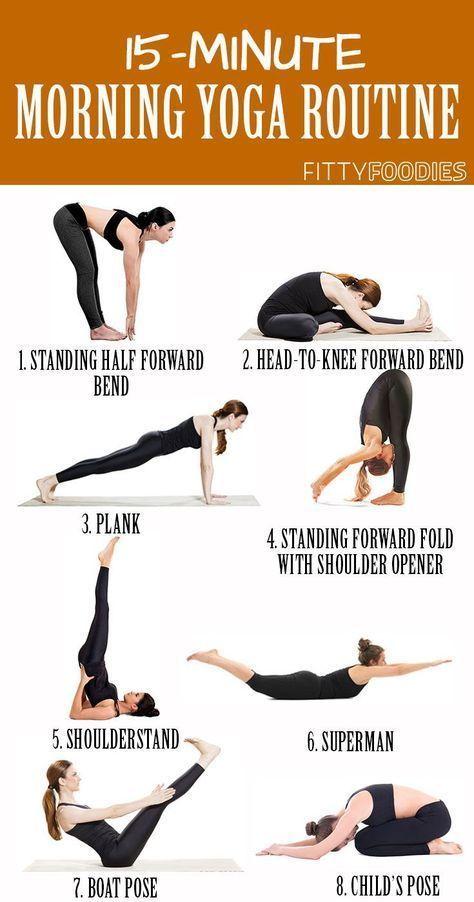 15 Minuten Morgen Yoga-Routine, um Sie aufzuwecken