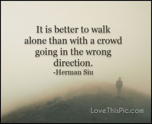 It is better to walk alone  quotes quote life inspirational wisdom lesson