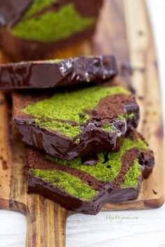Grandmother's Chocolate and Matcha Cake. Chocolate and matcha do it again in this nostalgic baked good. Can't say no to grandma! #matcha #dessert