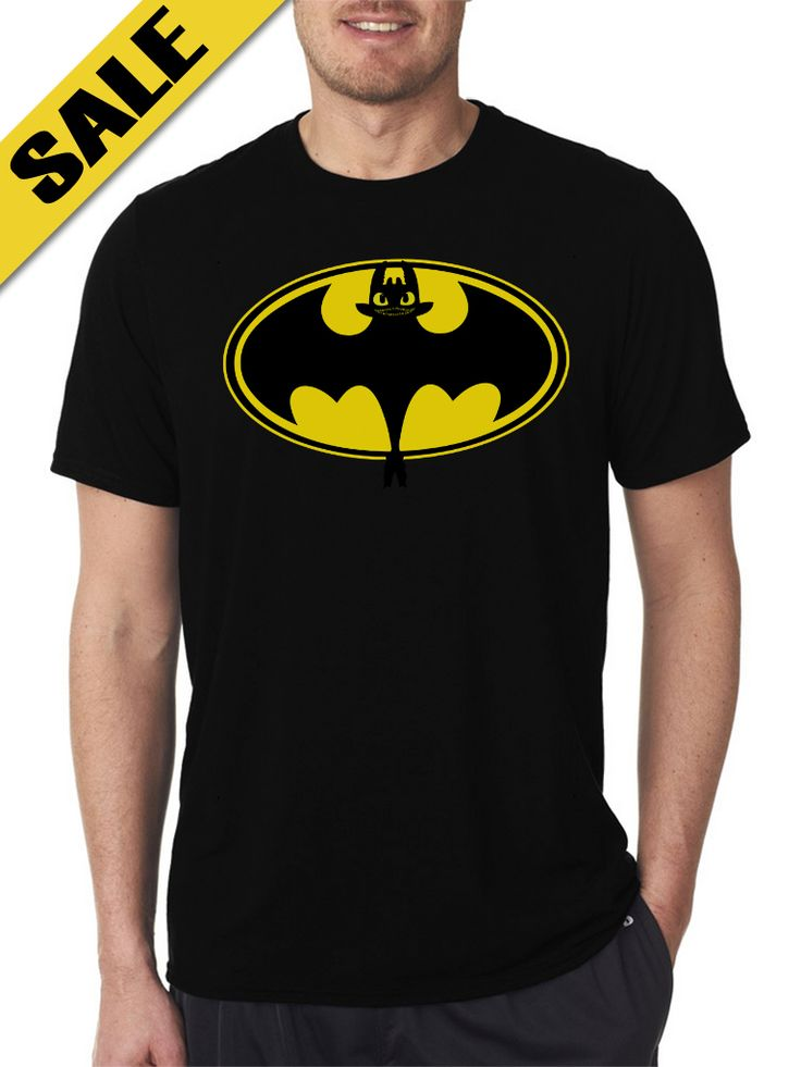 Bat Toothless Smile Black T-Shirts For Men's