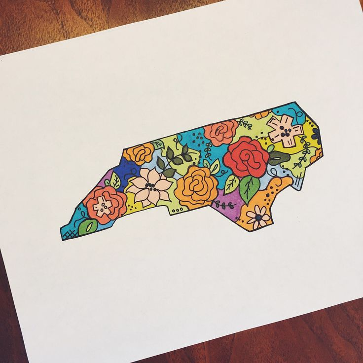 A personal favorite from my Etsy shop https://www.etsy.com/listing/508853216/flower-north-carolina-state-outline