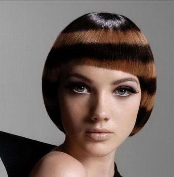 How interesting! Very unusual hair style.