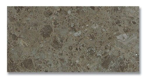 "Polished 12"" x 24"" x 3/8"" Savannah Gray is a natural marble tile in a rich gray color."