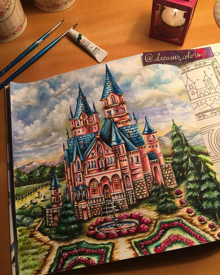 "13 Likes, 2 Comments - Eliane Federzoni (@dreams.colors) on Instagram: ""#livrosdecolorirparaadultos #coloringbookforadults #romanticcoutrycoloringbook #romanticcountry…"""