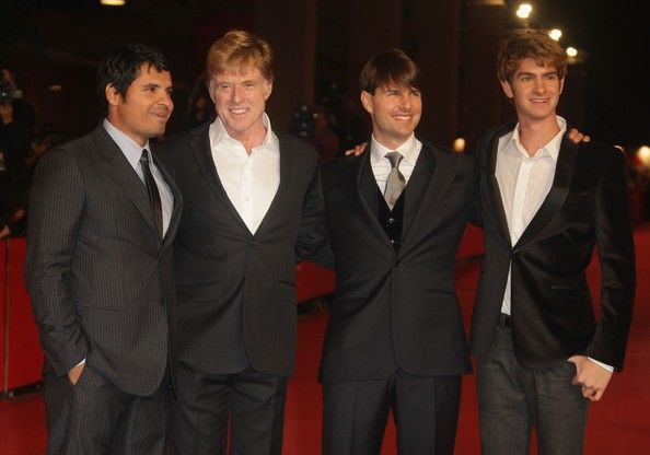 Tom Cruise and Andrew Garfield Photos Photos - (L-R) Michael Pena, Robert Redford, Tom Cruise and Andrew Garfield attend the 'Lions For Lambs' premiere during Day 6 of the 2nd Rome Film Festival on October 23, 2007 in Rome, Italy.  (Photo by Pascal Le Segretain/Getty Images) * Local Caption * Michael Pena;Robert Redford;Tom Cruise;Andrew Garfield - 2nd Rome Film Festival - Lions For Lambs - Premiere