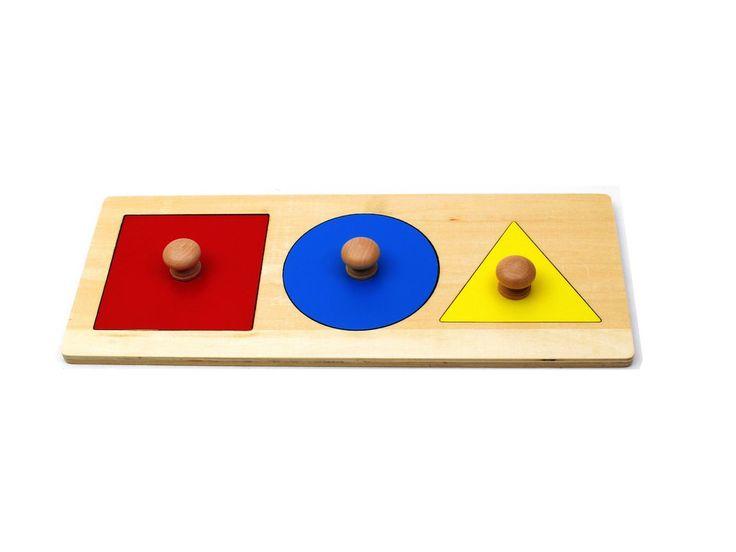 PinkMontesori Basic Shape Puzzle - Pink Montessori Montessori Material for sale…