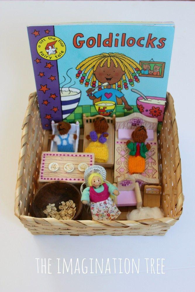 Goldilocks storytelling basket