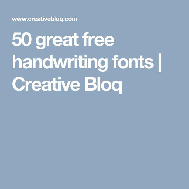 50 great free handwriting fonts   Creative Bloq