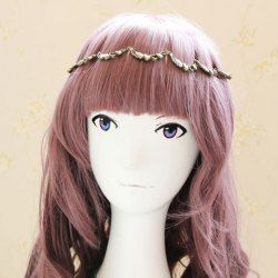 $3.63 Chic Hollow Design Wing and Heart Embellished Alloy Hairband For Women