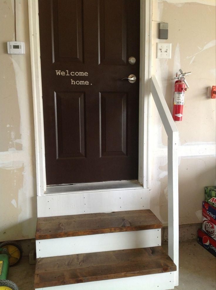 Garage Stairs Door Makeover Lazy Sunday Studios Behind