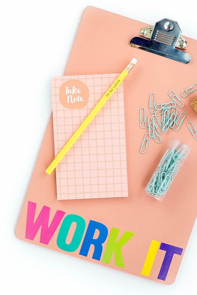 DIY Work It Back To School Clipboard 168 best
