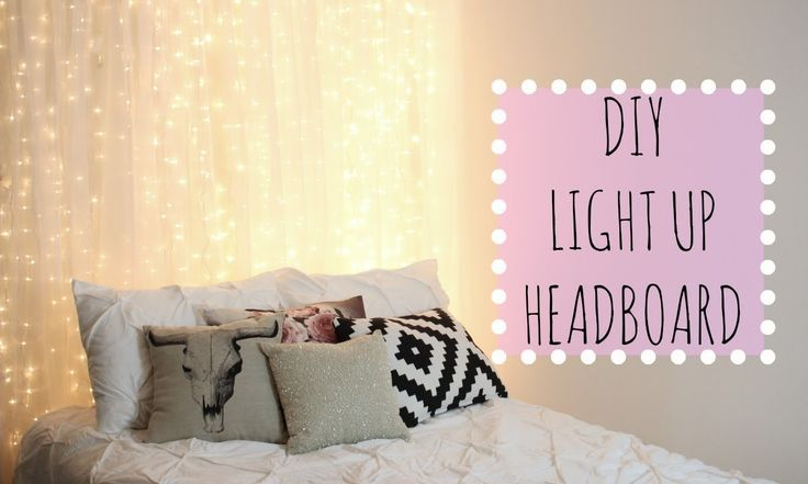 42 DIY Room Decor for Girls - DIY Light Up Headboard - Awesome Do It Yourself Room Decor For Girls, Room Decorating Ideas, Creative Room Decor For Girls, Bedroom Accessories, Insanely Cute Room Decor For Girls http://diyjoy.com/diy-room-decor-girls