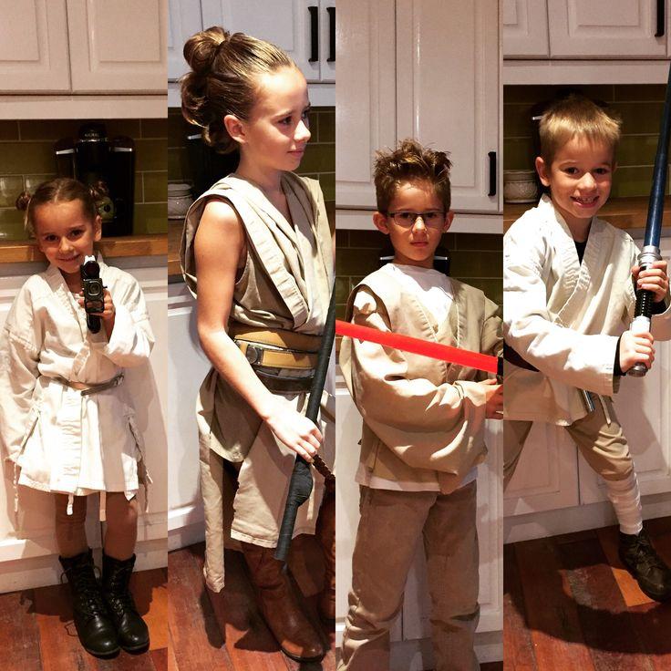 Star Wars costumes Laya/Rey/Anakin/Luke