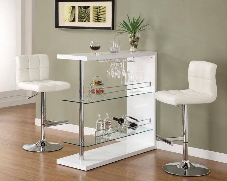 Glass Bar Table And Stools