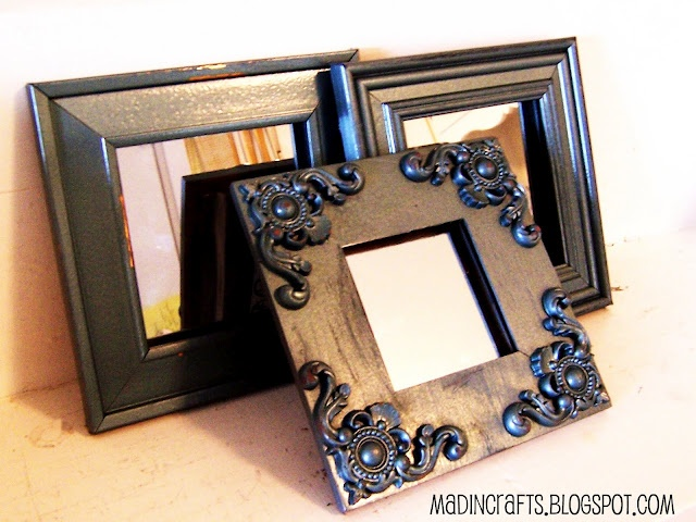 Pottery Barn Knock-Off Mirrors made from dollar store supplies - Mad in Crafts