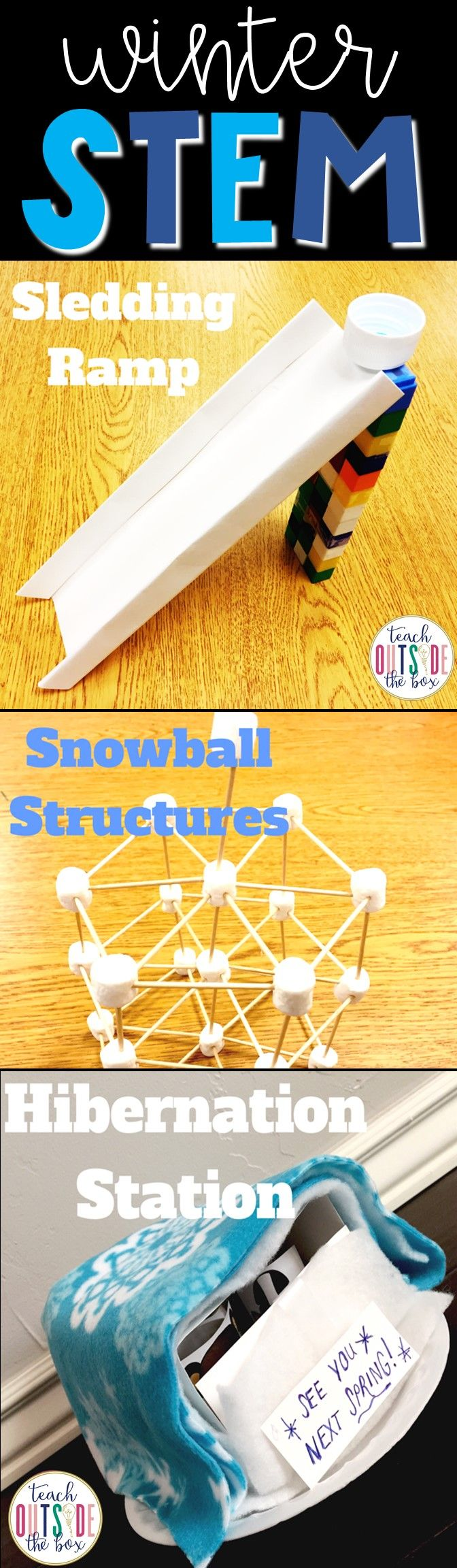 Three LOW PREP Winter STEM Challenges for Elementary Engineers! January STEM Activities | Kindergarten, first grade, second grade, third grade, fourth grade, fifth grade