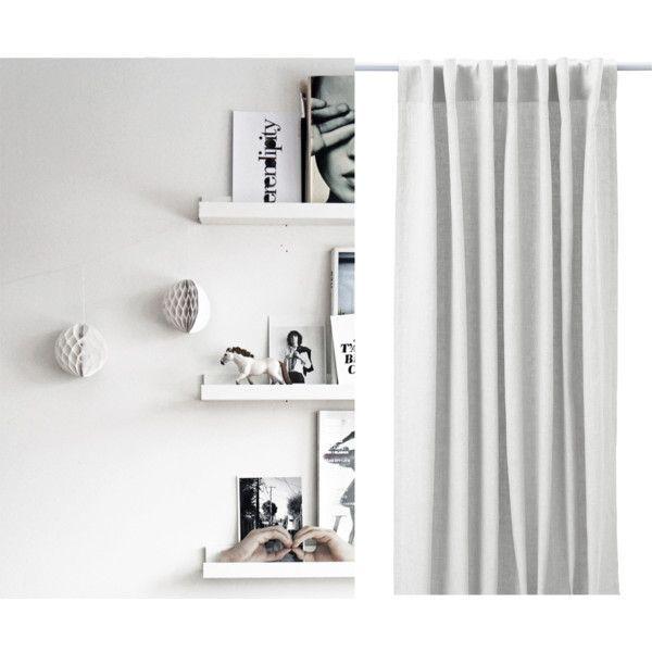 #myIKEAbedroom 1. RIBBA Houder voor schilderijen, wit en VISIONÄR Decoratie, diverse vormen wit 2. AINA Gordijnen, 1 paar - IKEA