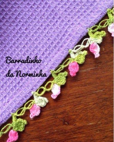OFICINA DO BARRADO: Croche - Barradinho de Botaozinhos de Rosinhas...