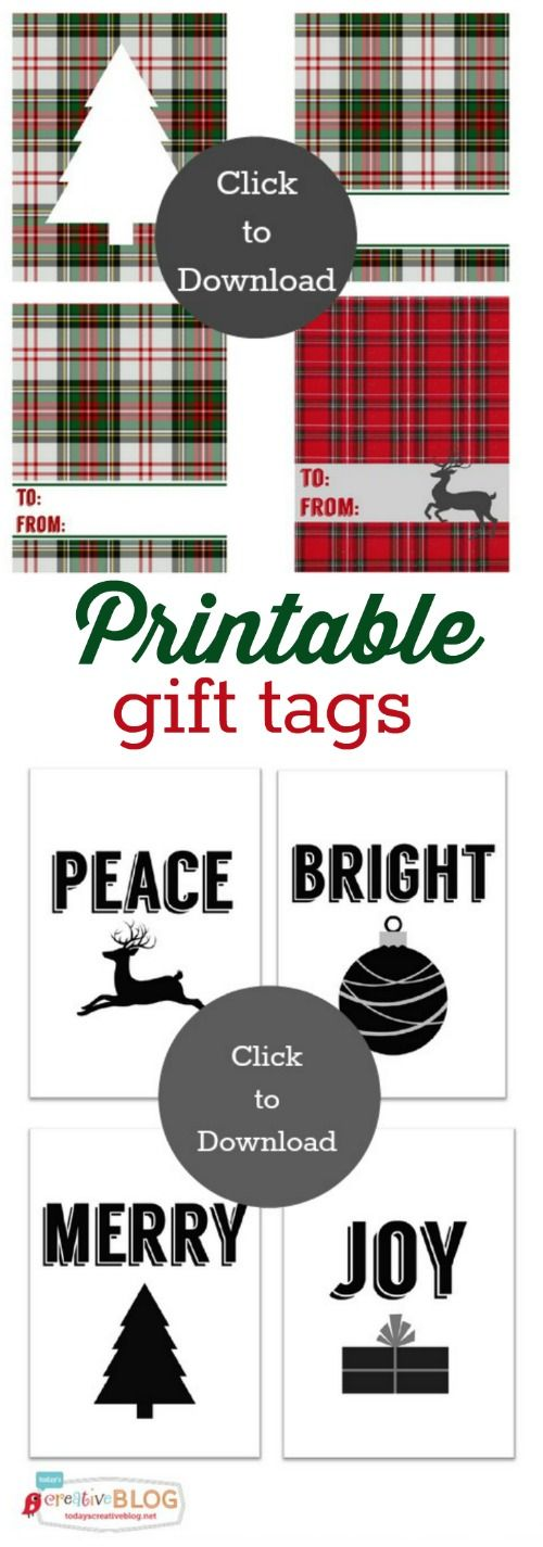 178 best christmas gift tags and printables images on pinterest free printable gift tags negle Image collections