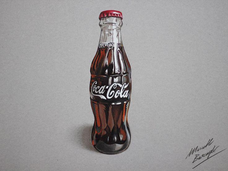 Coca-Cola contour bottle (drawing) by marcellobarenghi.deviantart.com on @deviantART
