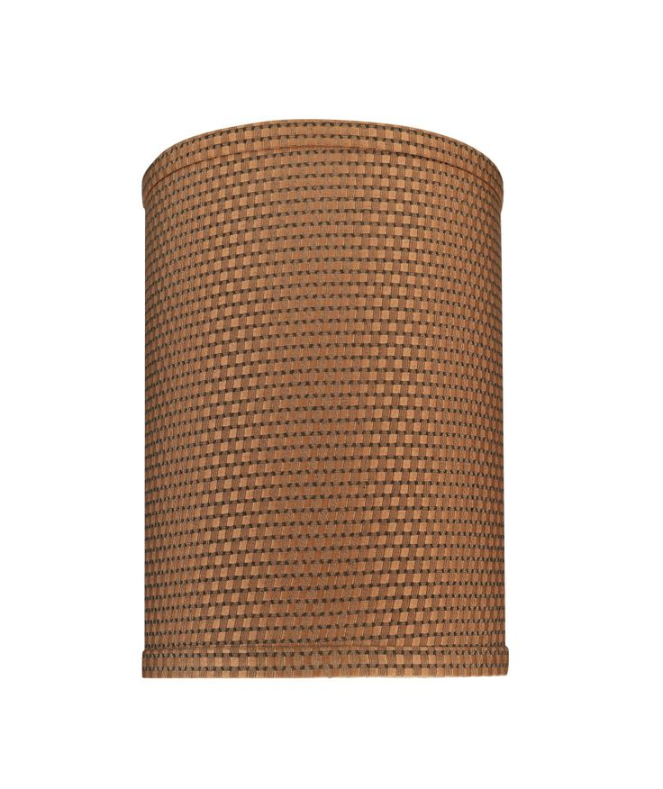 """# 31115 Transitional Hardback Drum (Cylinder) Shaped Spider Construction Lamp Shade in Brown, 8"""" wide (8"""" x 8"""" x 11"""")"""