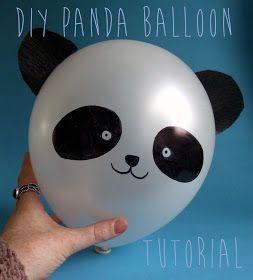 The DIY Fox: DIY Panda Balloon Tutorial