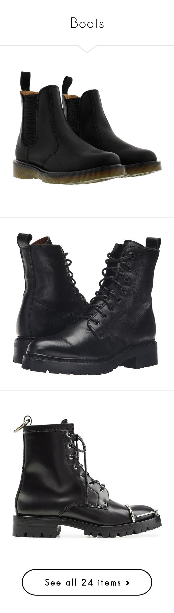 """""""Boots"""" by nikib129 ❤ liked on Polyvore featuring shoes, boots, ankle booties, black, black boots, black chelsea boots, chelsea ankle boots, black chelsea ankle boots, dr martens boots and black platform boots"""