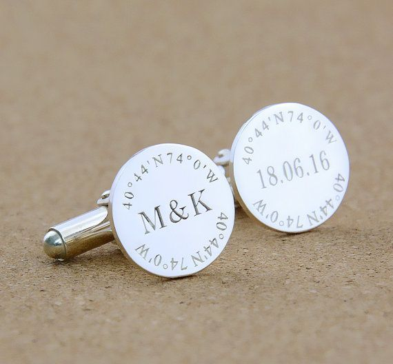 Beach Wedding Cufflinks Personalized Handmade Cufflinks for Groom Fiance Men