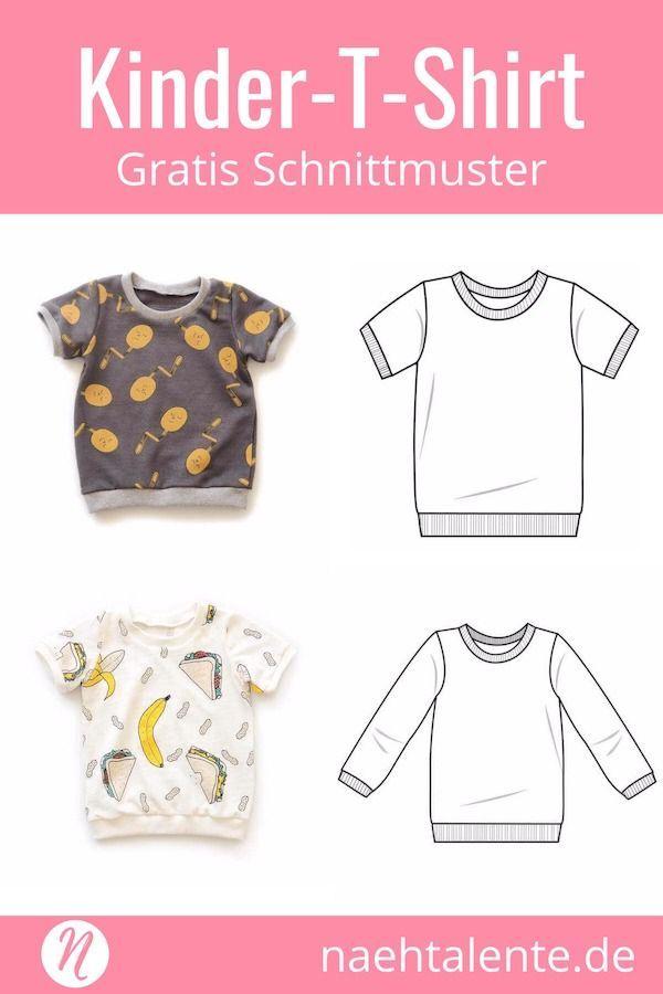 T-Shirt für Kinder – Freebook für Kurz- und Langarmshirts