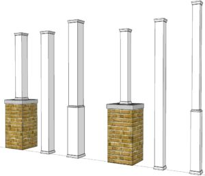 Porch Support Column Covers