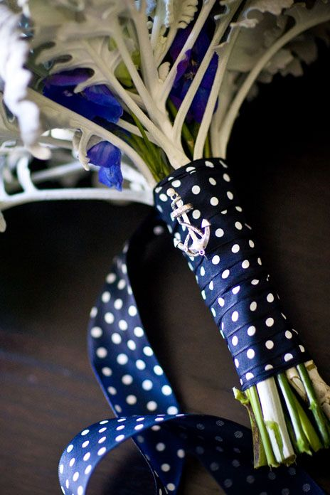love the bouquet ribbon, but would definitely prefer stripes over polka dots
