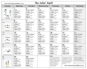 Sisters Do Food and Fitness: 'No Joke' April: April Fitness Challenge