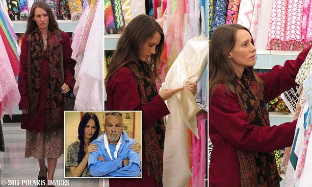 Charles Manson's wife shops for wedding dress fabric