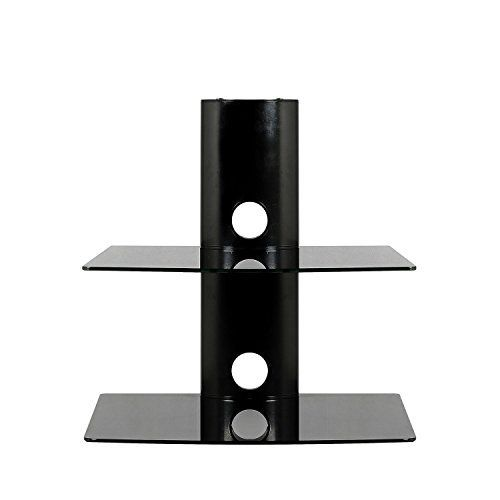 Description: – Aluminum strong black tube with Tempered glass, heavy hold for most of DVD Player/AV Receiver/TV Accessories. – Heavy loading for each shelf, maximum of 25lbs on each shelf. – 2 Tier Large size of glass. Glass shelf size: 17.5 inch Wide, 14 inch deep.Black... more details available at https://furniture.bestselleroutlets.com/game-recreation-room-furniture/tv-media-furniture/audio-video-shelving/product-review-for-sevenfans-floating-shelf-wall-m