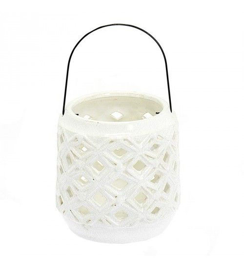 CERAMIC LANTERN IN WHITE COLOR 17_5X17_25