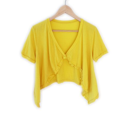 Mesop Diego Button Cardi in Buttercup Yellow from Mol&Bear $99.