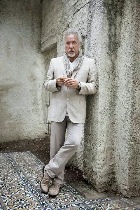 TOM JONES, aging fabulously! There's a lot of 40 year-old men that don't look this good!