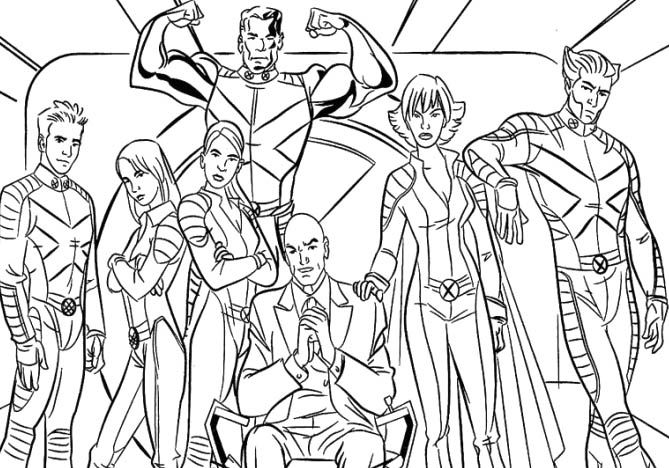 x man coloring pages - photo #38