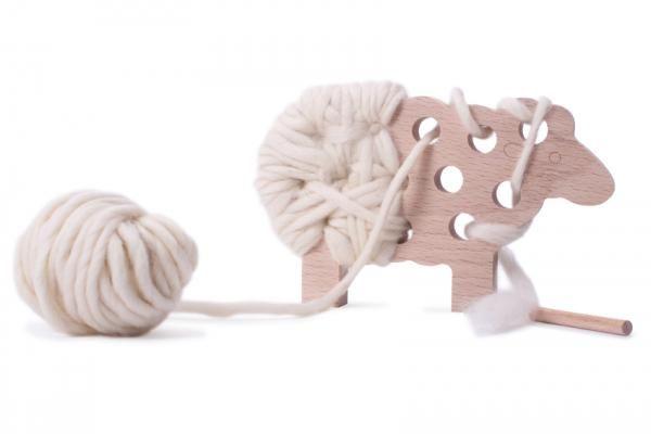Mouton Decoratif Bois Et Laine