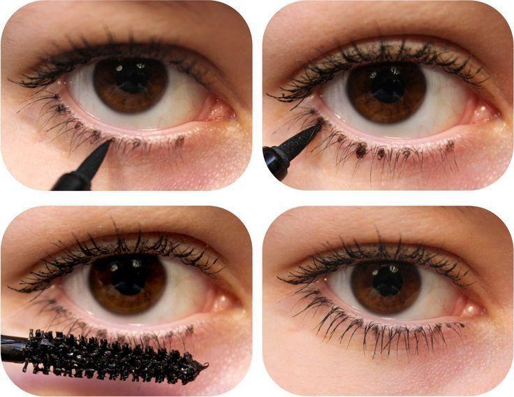 how to fake thicker lashes EyeLashesDrawing Makeup tips