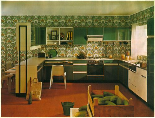 A 1970s kitchen is not complete without an abundance of avocado green.