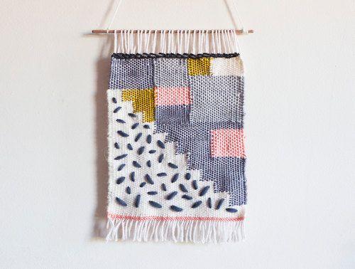 Handwoven wall hanging by beweaveme