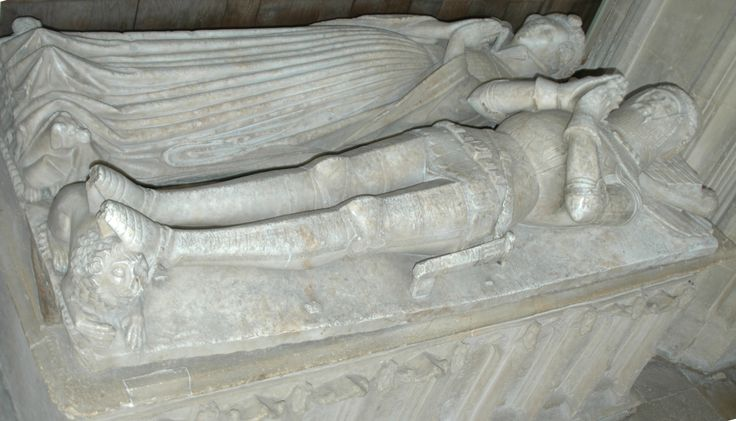 Sir William Wilcote (died 1410) and his wife in the Wilcote chantry chapel, St Mary's parish church, North Leigh, West Oxfordshire, England