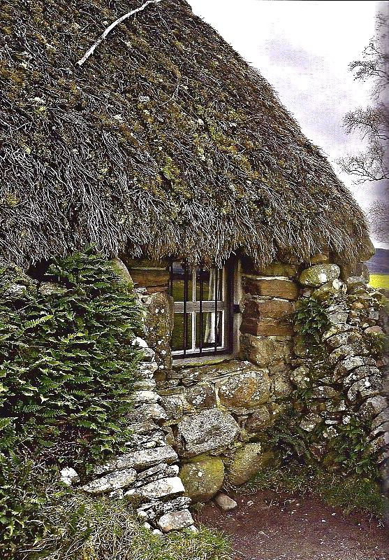 thatched stone cottage ....♥♥                                                                                                                                                                                 More