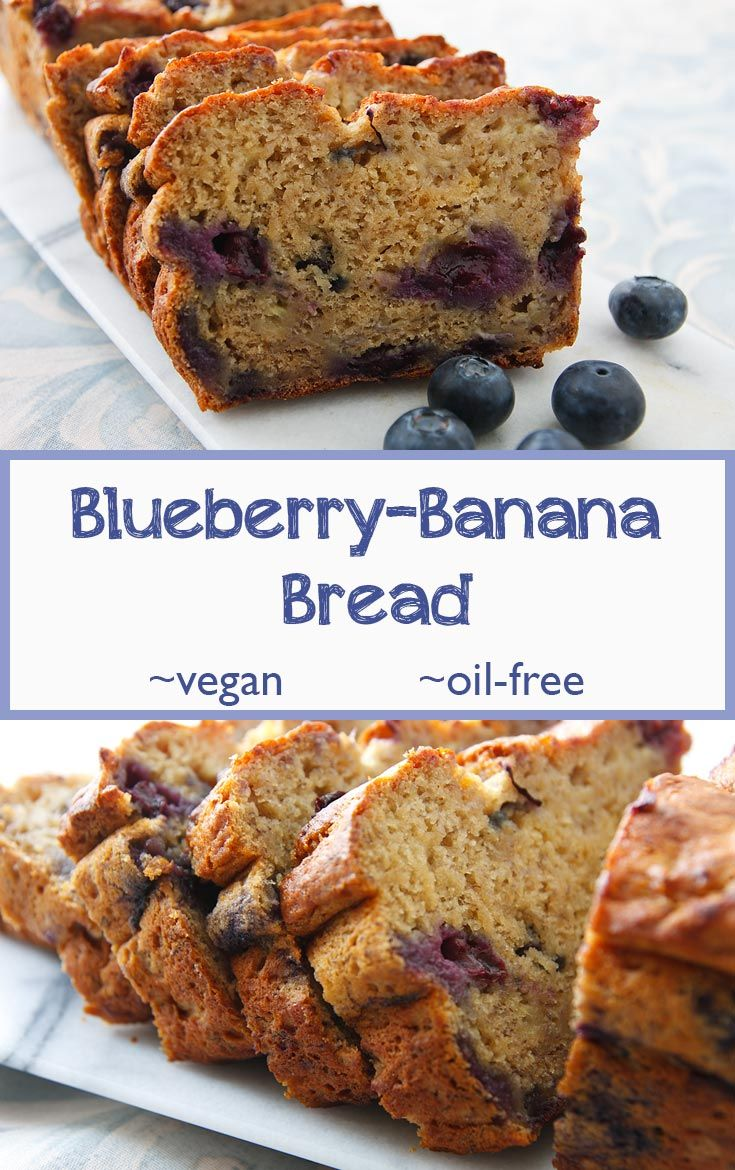 Using bananas instead of oil makes this fat-free banana bread extremely moist and lightly sweet, and the blueberries add a fruity surprise to every bite.