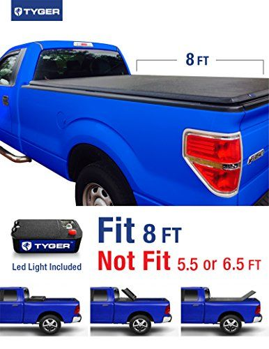 Tyger Auto TG-BC3F1021 Tri-Fold Pickup Tonneau Cover (Fits 09-14 Ford F-150 (w/o Utility Track) 8 feet (96 inch) Tri-Fold Truck Cargo Bed Tonneau Cover (NOT (For Stepside))