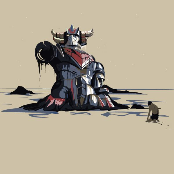 Fallen Robot Grendizer of The Planet of the Apes, Marcin
