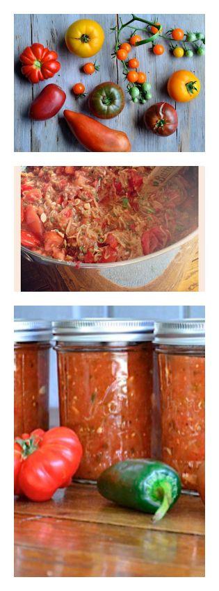 Sweet and Smokey Zucchini Salsa | ReluctantEntertainer.com